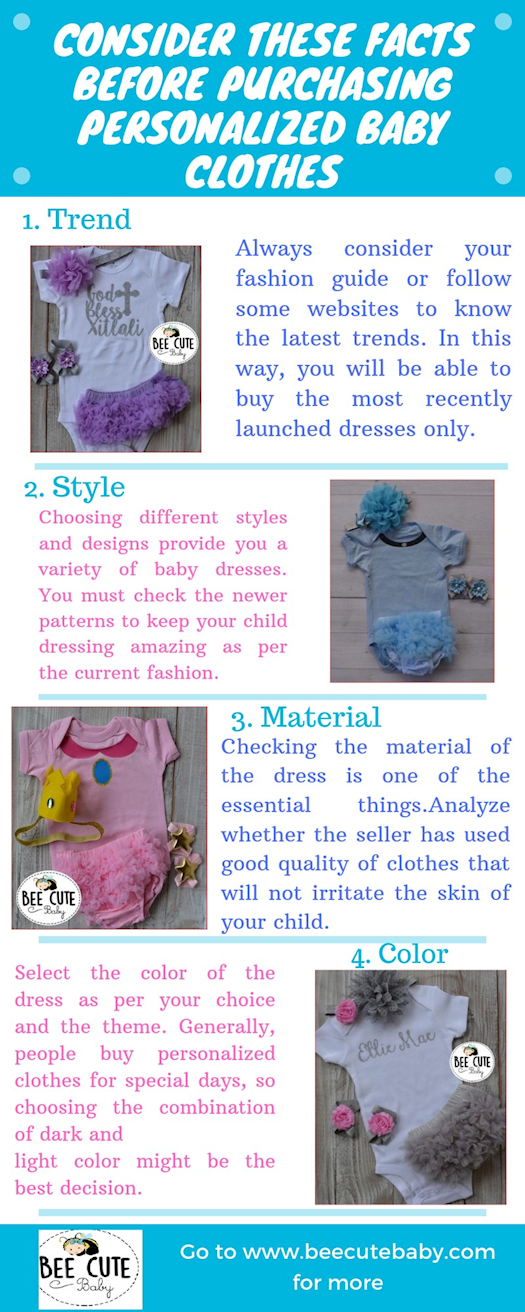 Consider These Facts before Purchasing Personalized Baby Clothes