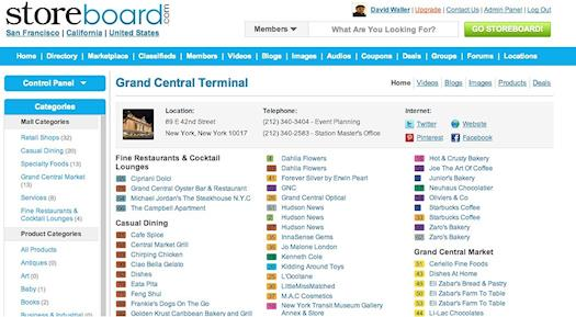 Coming To A Mall Near You!  Grand Central Terminal Shopping Center on Storeboard!