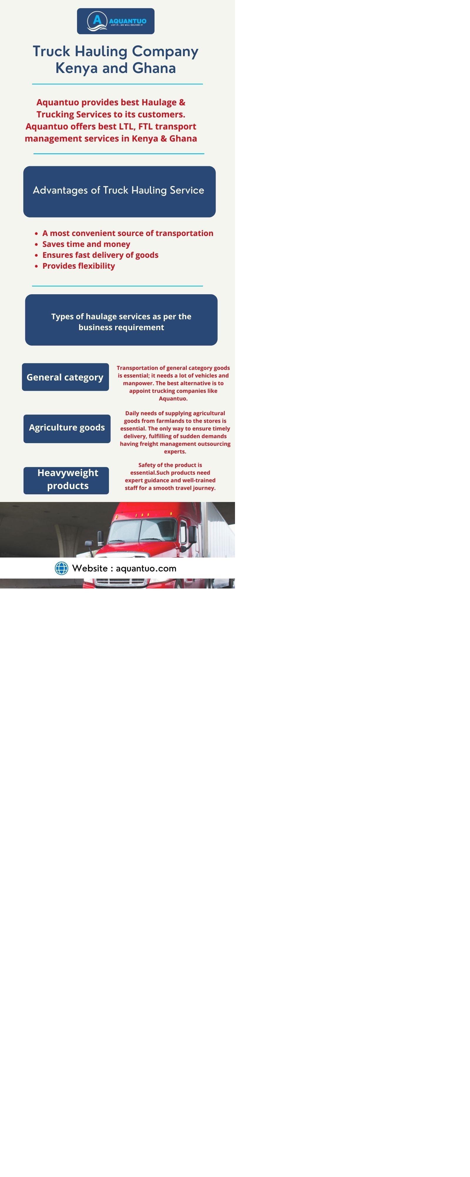 Truck Hauling Company Kenya & Ghana