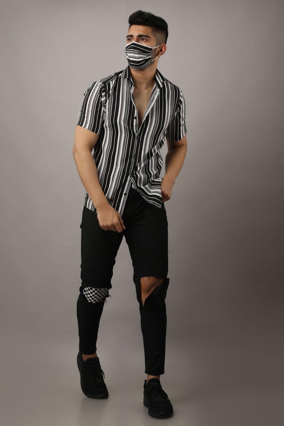 Striped Shirt Men