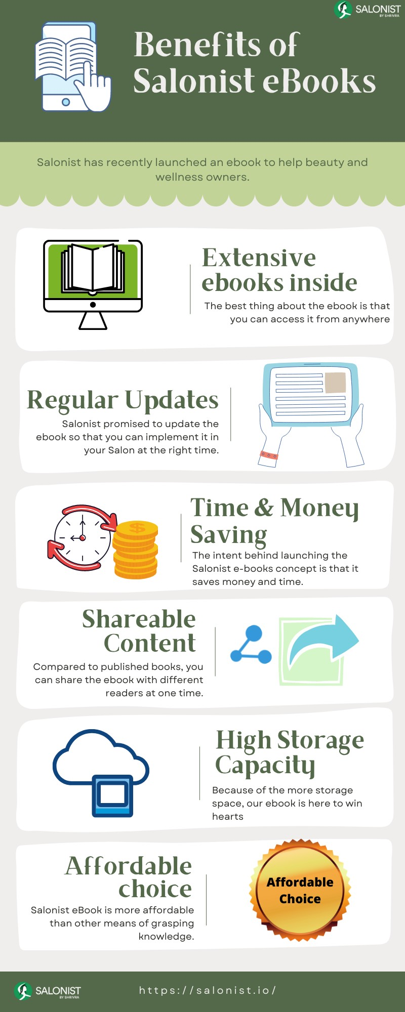 Benefits of Salonist E-books
