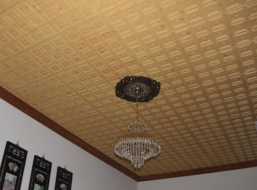 Image of: Faux Wood Ceiling Tiles