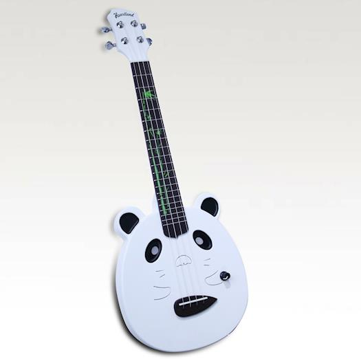 PANDA WHITE ELECTRIC UKULELE