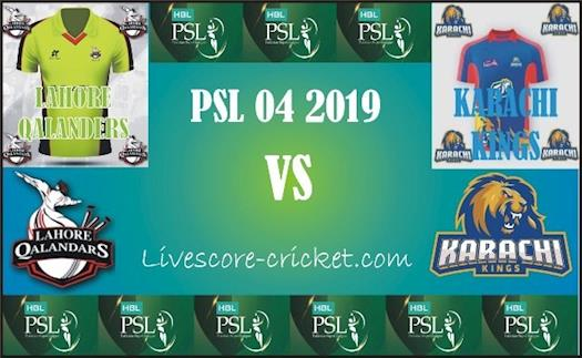 PSL 4 Lahore Qalanders vs Karachi Kings