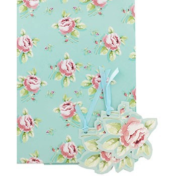 Gift Wrap Sheets Pack-Blue Roses avaialble at The Works