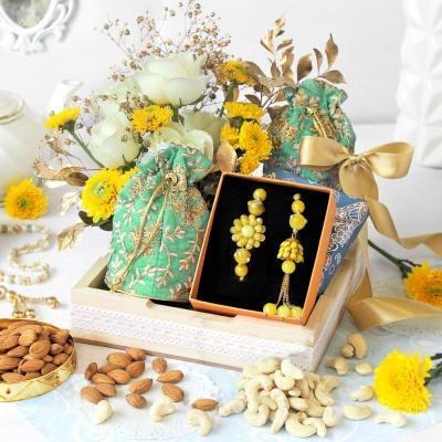Rakhi Giftt 2021, Rakhi With Flower