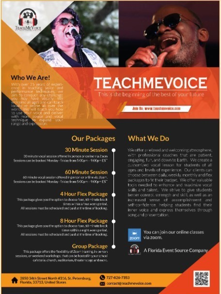 With over 25 years of experience in teaching voice.