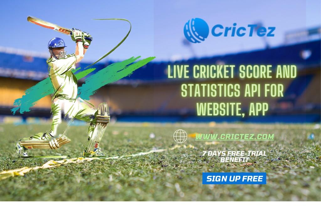 Live Cricket Score and Statistics API For Website, App