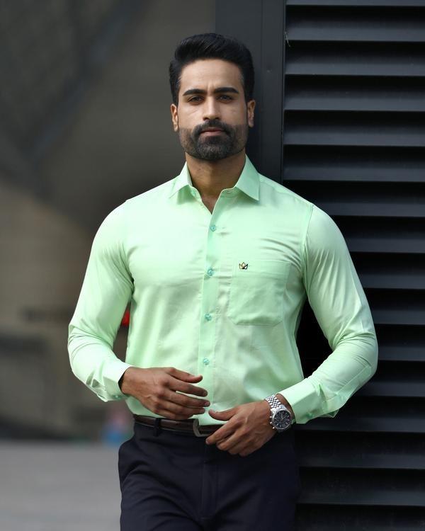 plain light green shirt