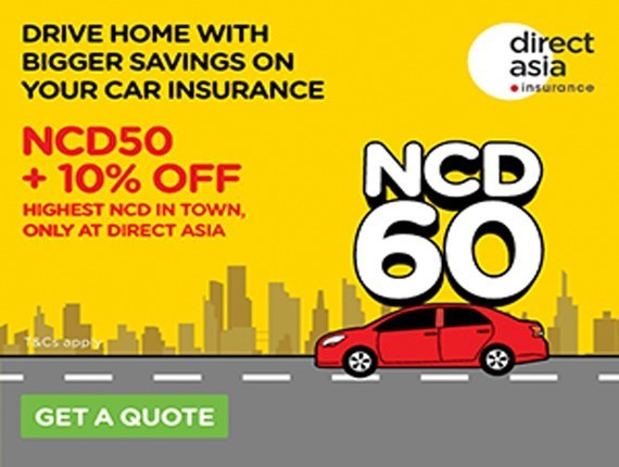 Be Rewarded with NCD60 At DirectAsia Insurance