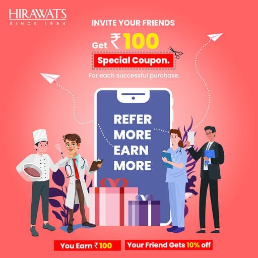 Refer Your Friends and Get 10% Off on First Purchase-Hirawats Online