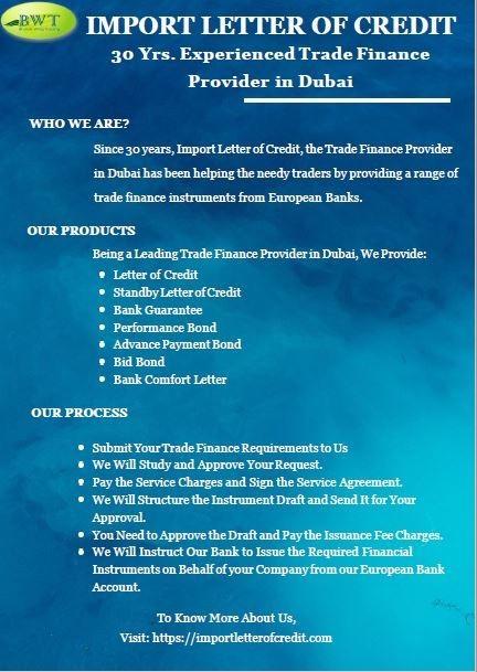 Import Letter of Credit – International Trade Finance Provider in Dubai