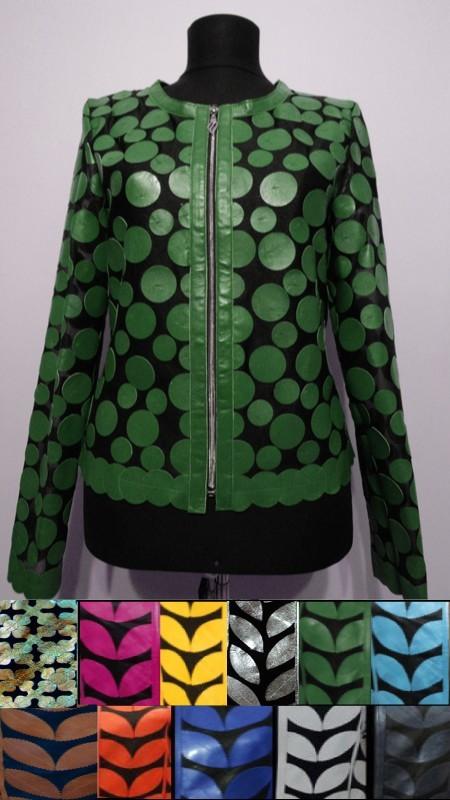 Womens Leather Leaf Jacket