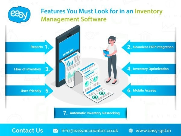 Features - You must look for an inventory management software