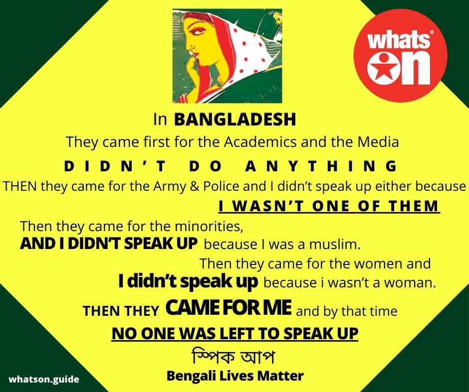 Speak Up - Bengali Lives Matter
