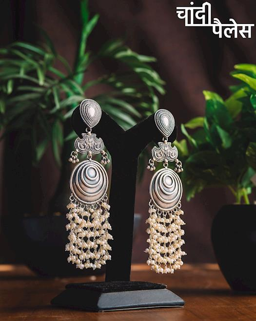 Silver Beautiful Earring Set Product Chandi Palace from Ahmedabad.jpg