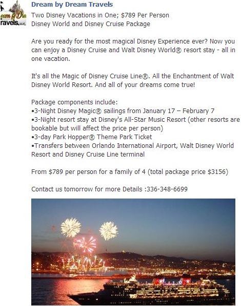 Dream by Dream Travels Disney Specials