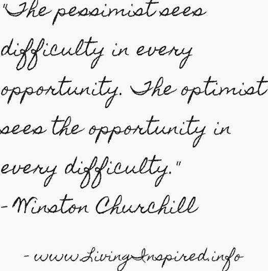 Pessimist or Optimist