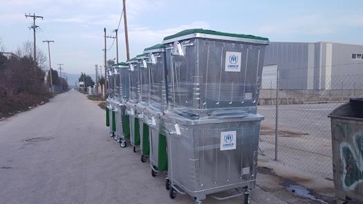 Waste bins for UNHCR