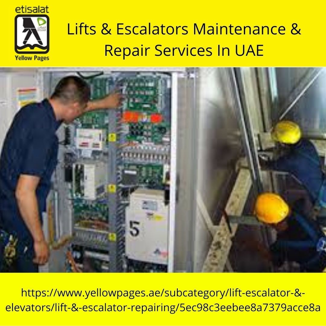 Lifts & Escalators Maintenance & Repair Services In UAE