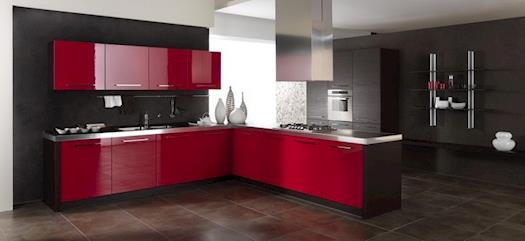 Ordinaire Red Nad Grey Kitchen Design
