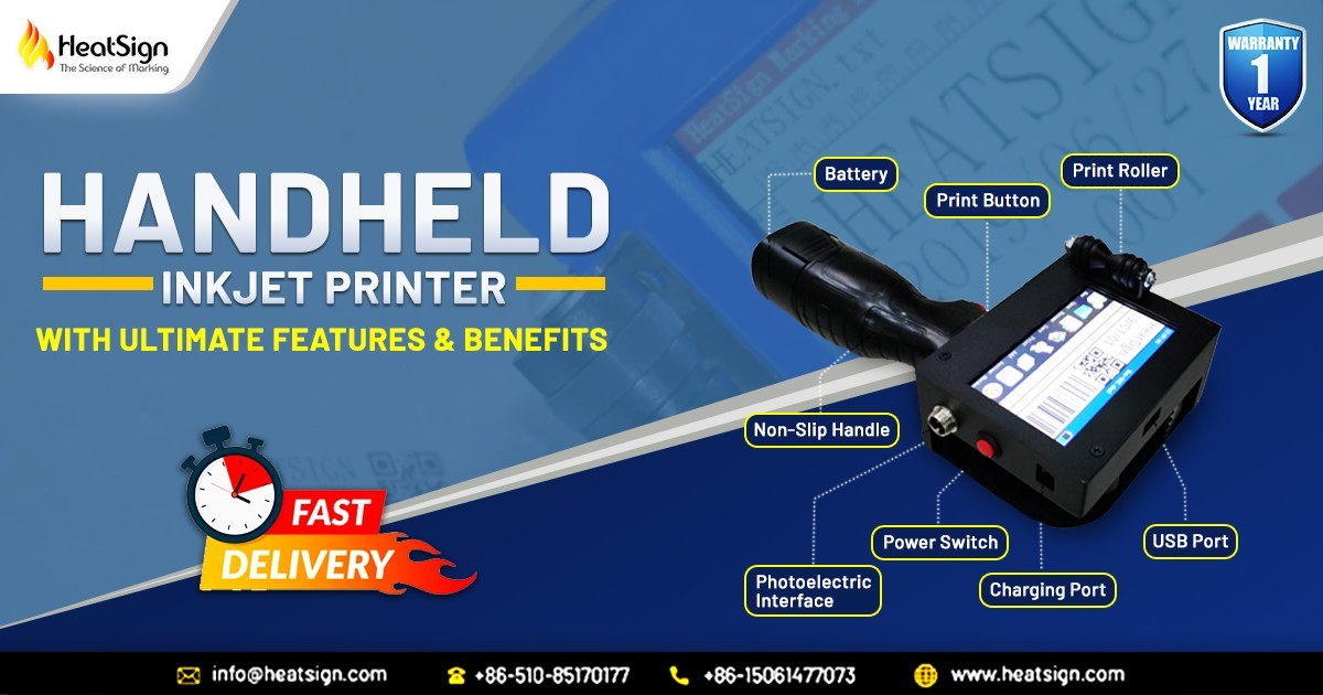 Portable HandHeld Inkjet Printer With Ultimate Features & Benefits at HeatSign