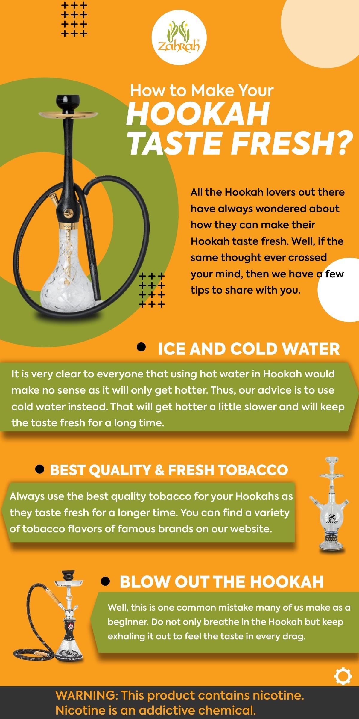 How to Make Your Hookah Taste Fresh?