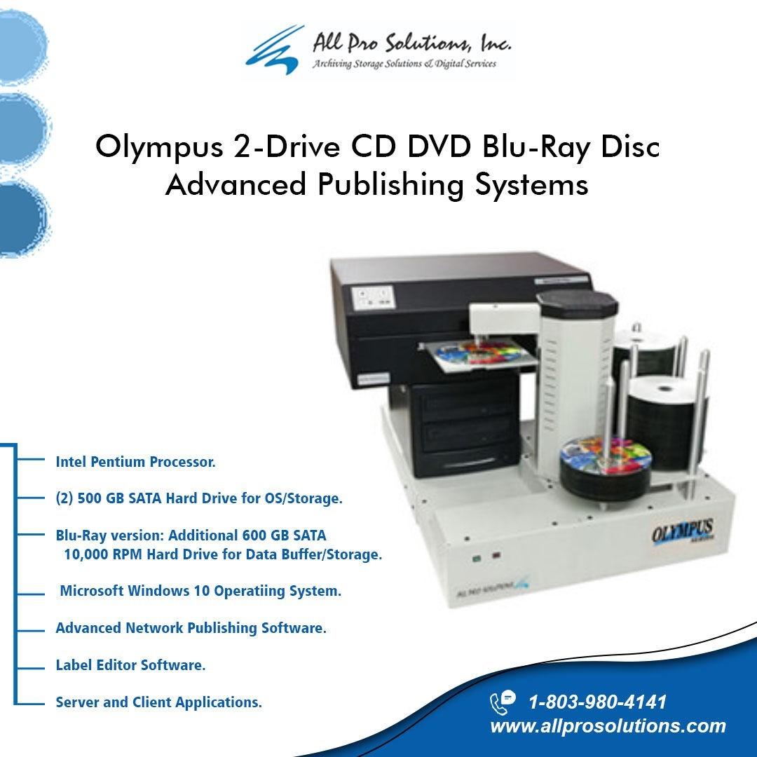 Olympus 2-Drive CD DVD Blu-ray Disc Advanced Publishing System