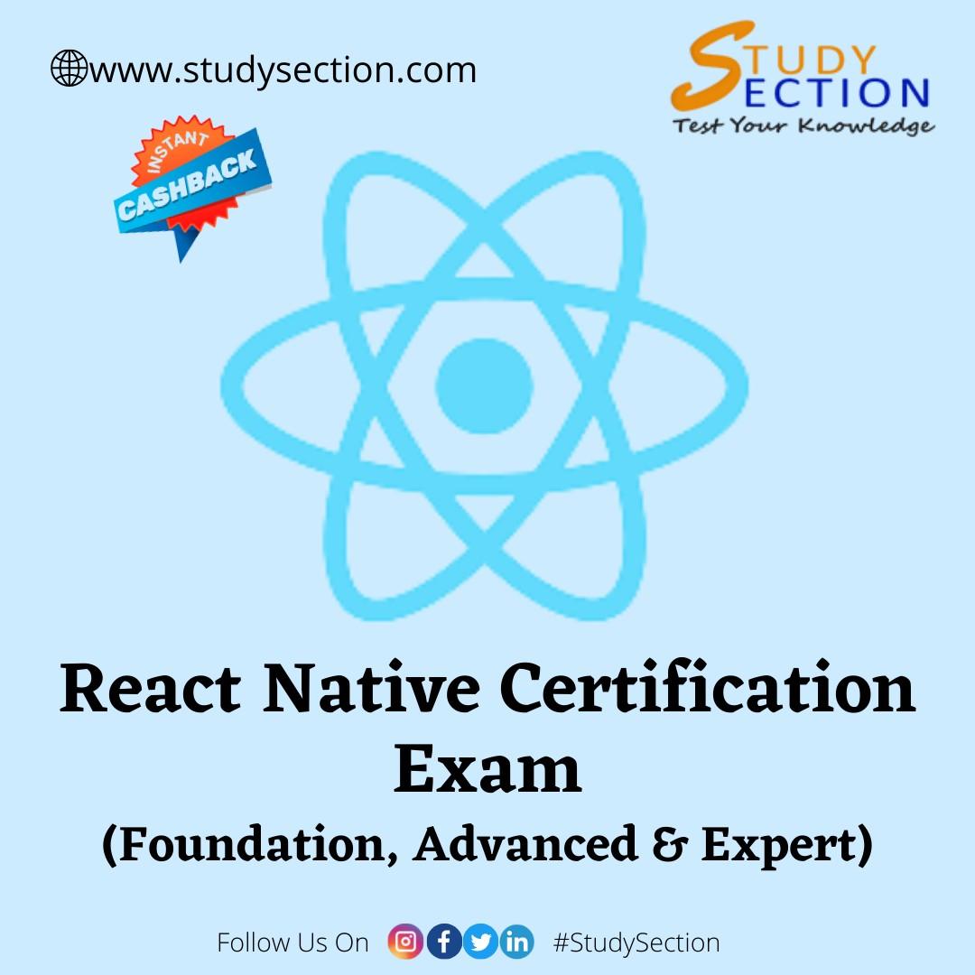 React Native Certification Exam