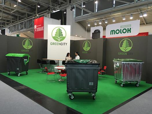 Green City International waste bins on IFAT Munich 2016