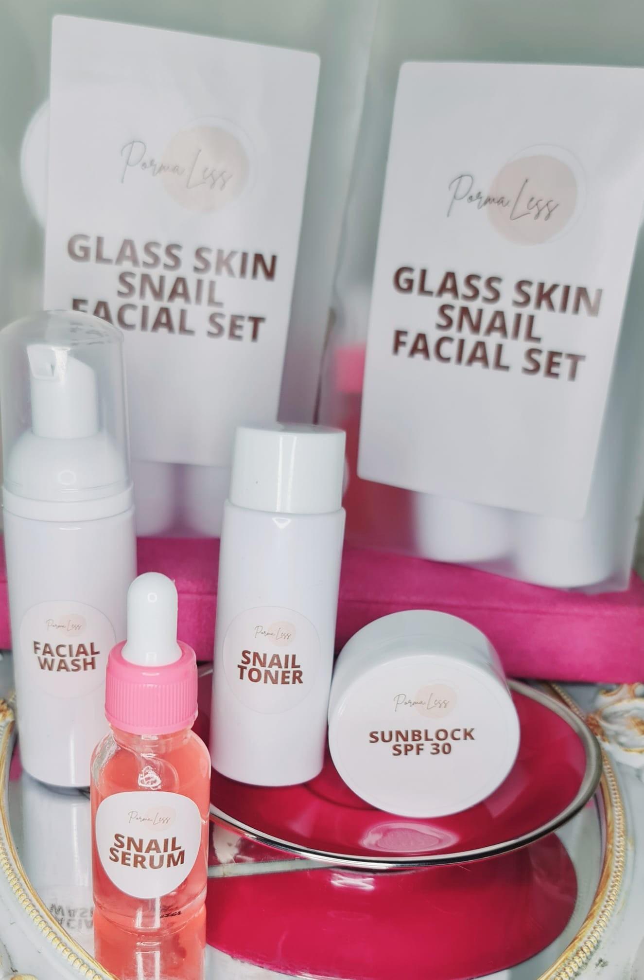 Glass skin set