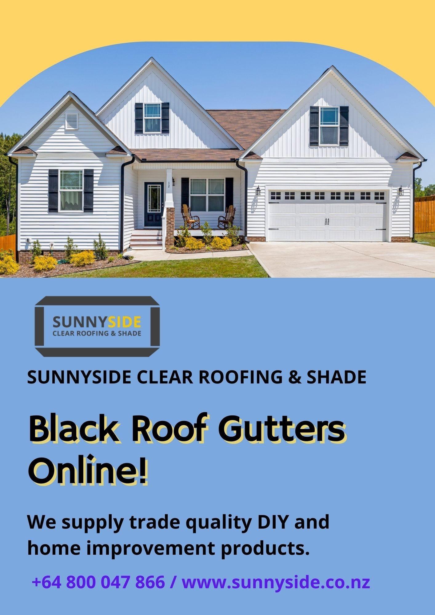 Black Roof Gutters Online – Sunnyside