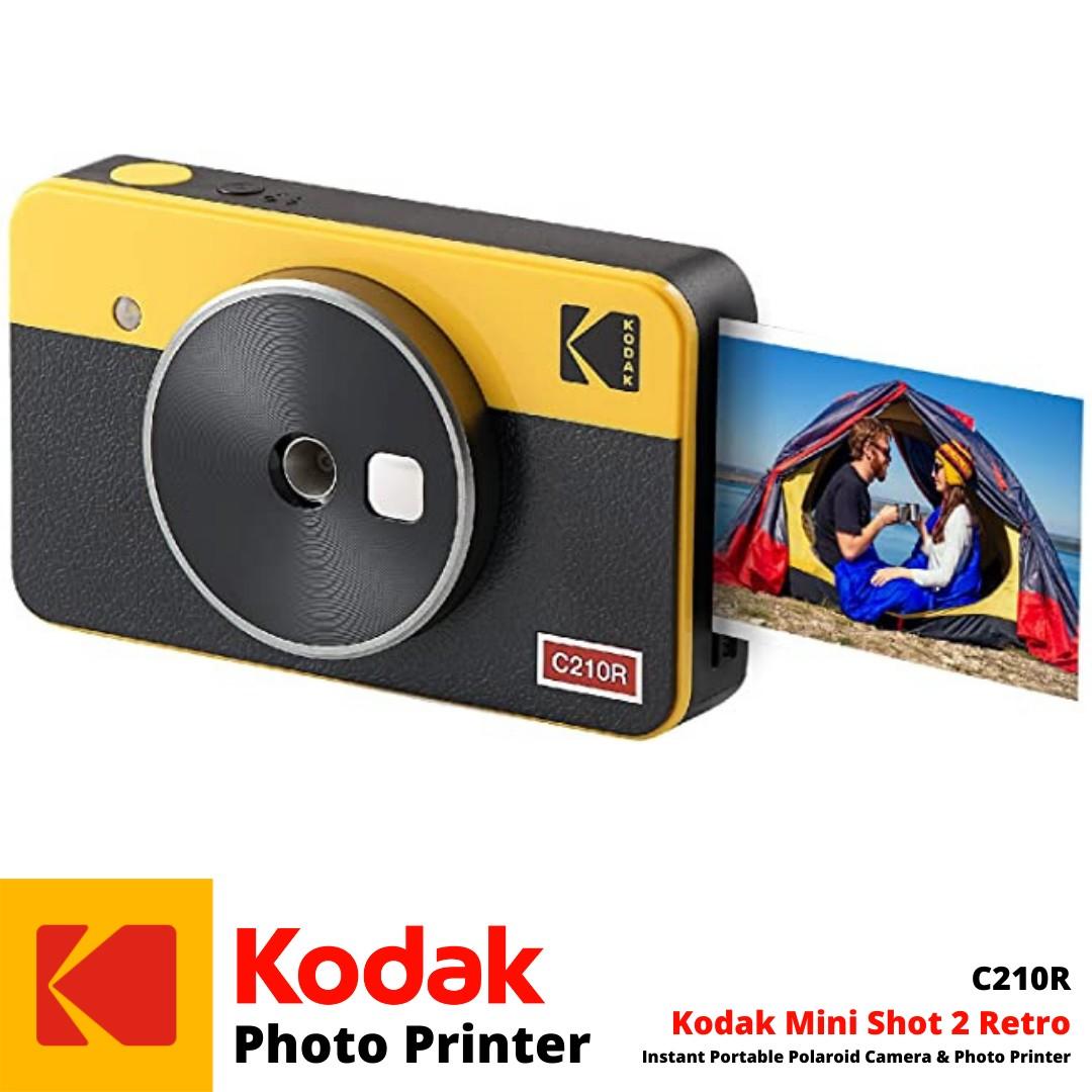Best Instant Portable Polaroid Camera Photo Printer | Mini Shot 2 Retro C210R | Kodak Photo Printer