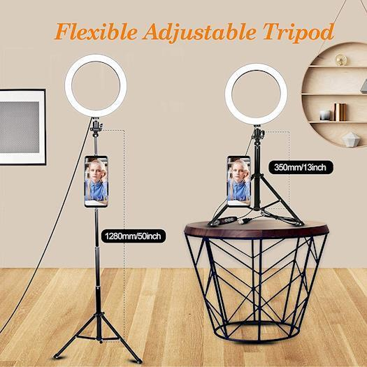 Jstbuy Big LED Selfie Ring Light With Tripod Stand for Tiktok-Infographic