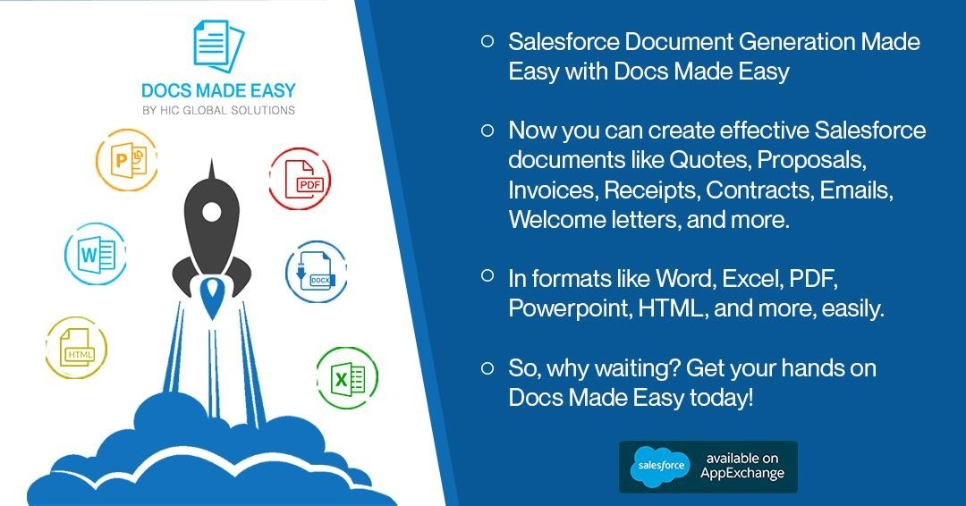 Salesforce Document Generation-Generate Reports & Invoices