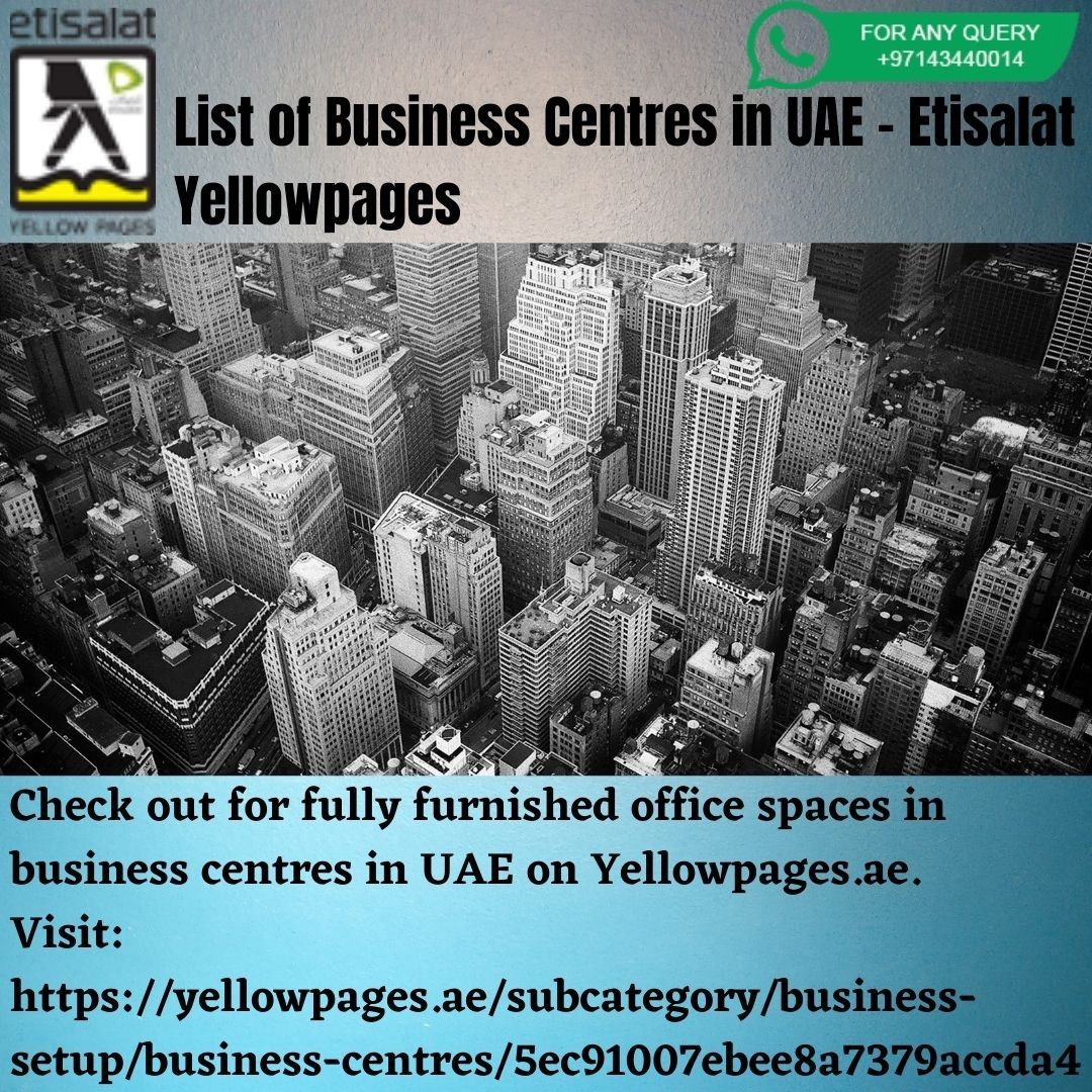 List of Business Centres in UAE - Etisalat Yellowpages