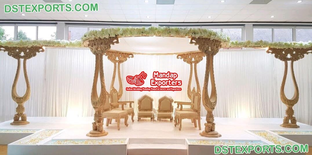 Stunning Wedding Event Wooden Mandaps UK