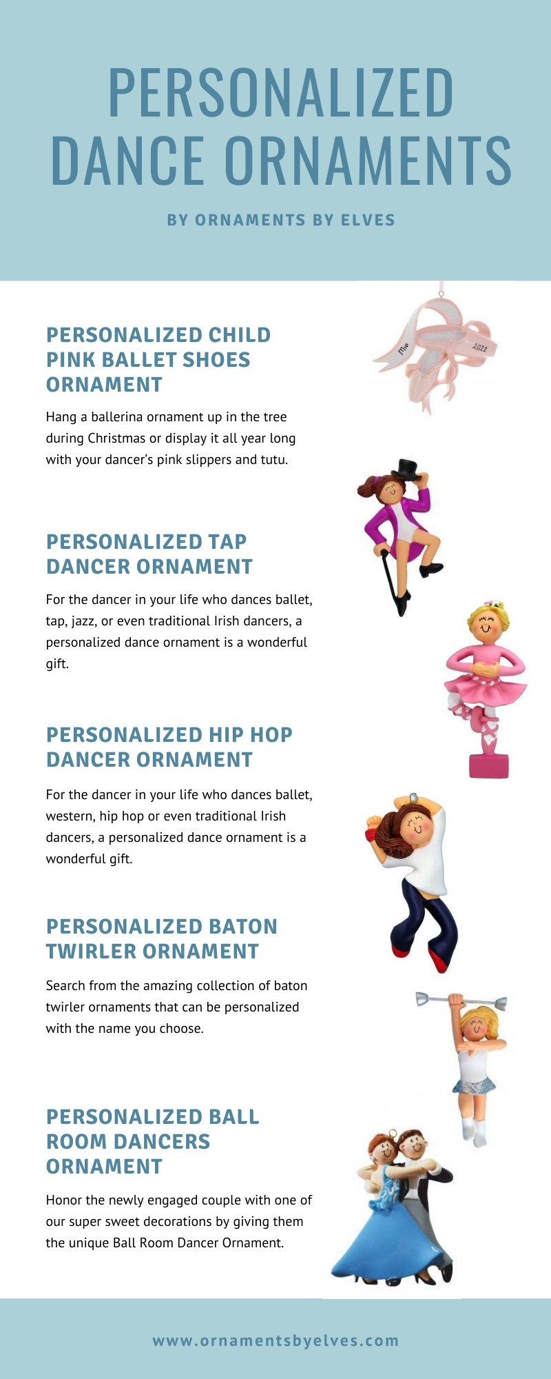 Personalized Dance Ornaments
