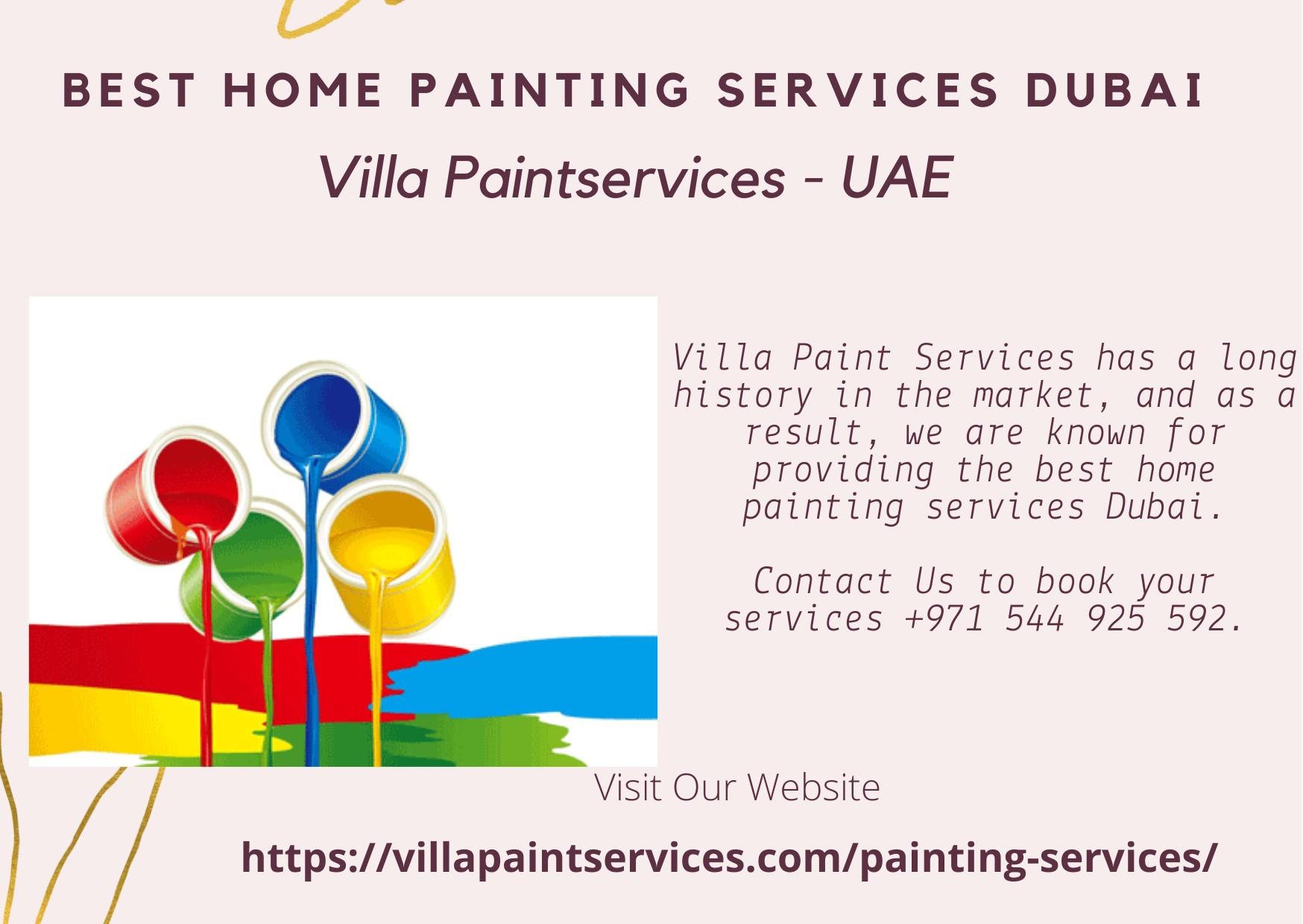 Best Home Painting Services Dubai | Villa Paints - UAE