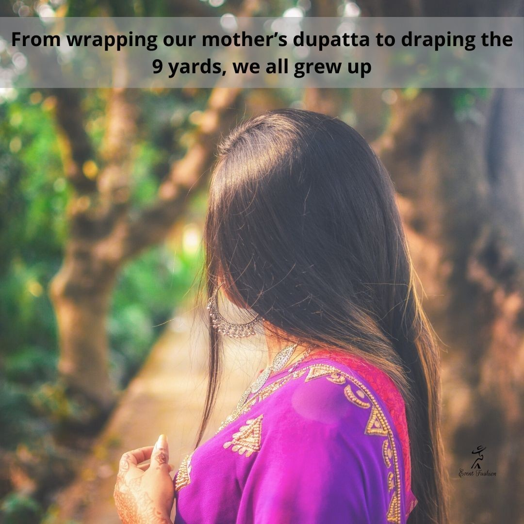 Wrapping mothers duppata