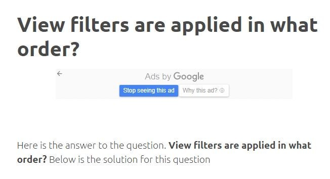 View Filters Are Applied In What Order? » Answer Out