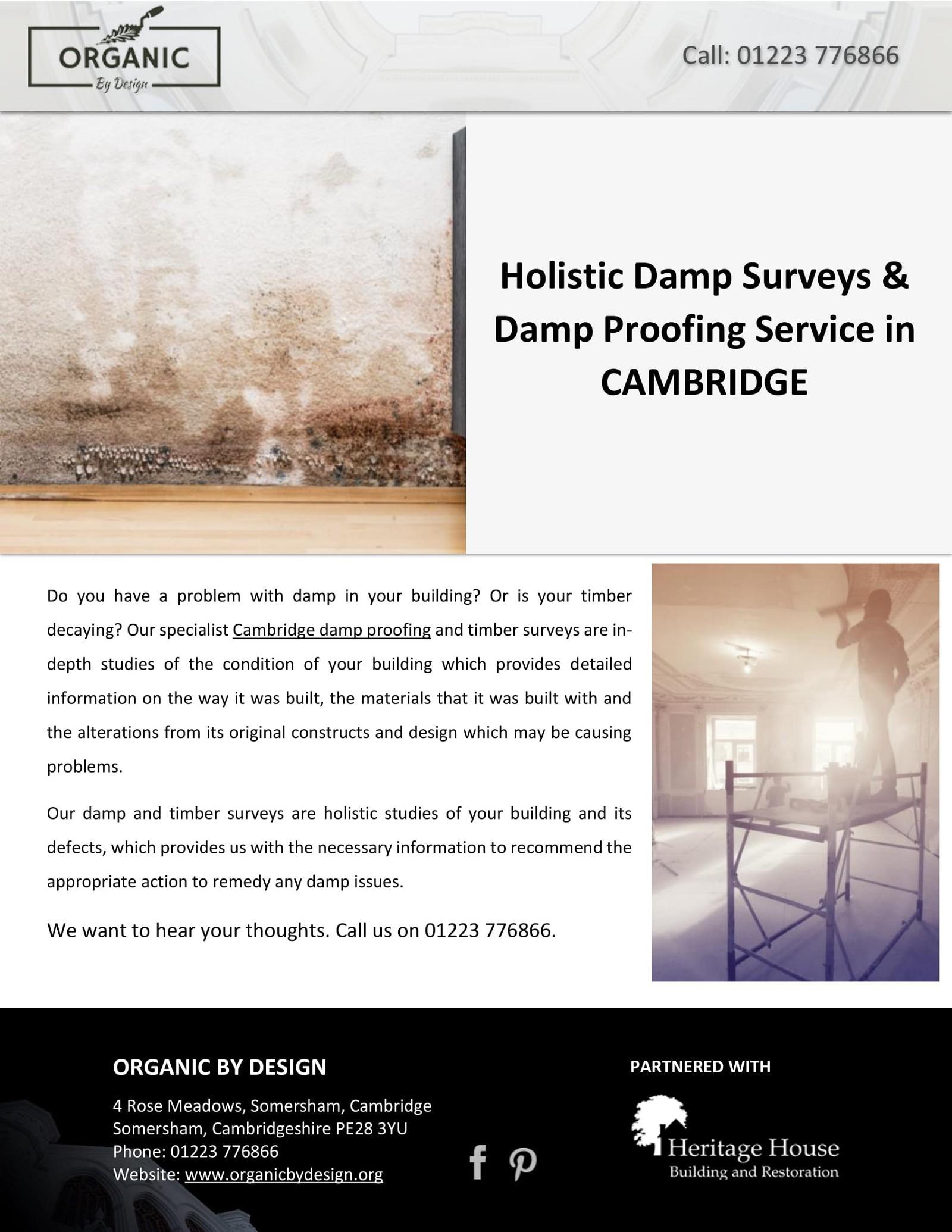 Holistic Damp Surveys & Damp Proofing Service in CAMBRIDGE