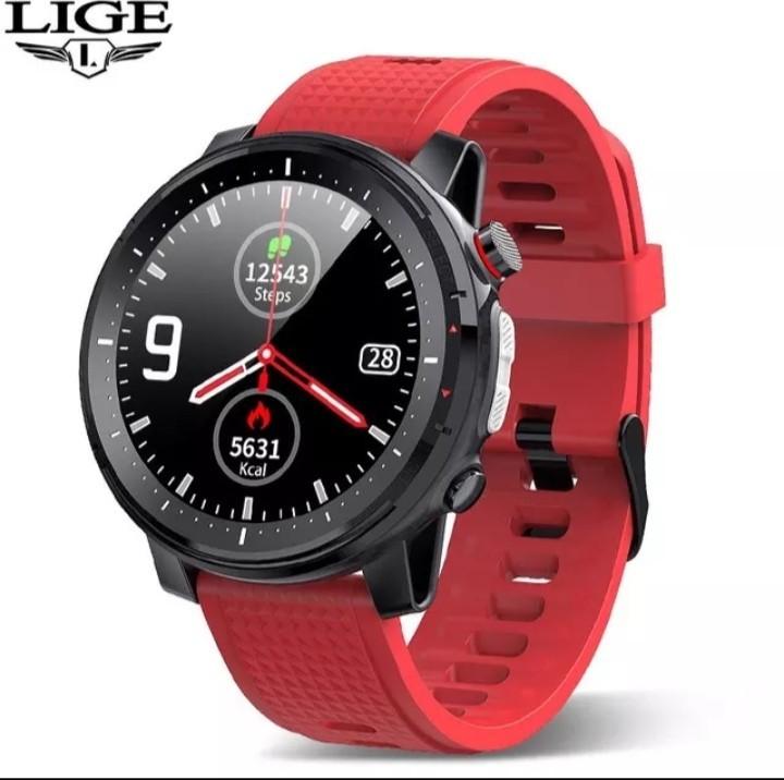 Waterproof Smart Watch Men ECG Heart Rate Blood Pressure Monitor LED Flashlight Sports Fitness Track