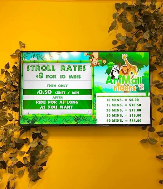 AniMall Riders Rates at Guildford Mall