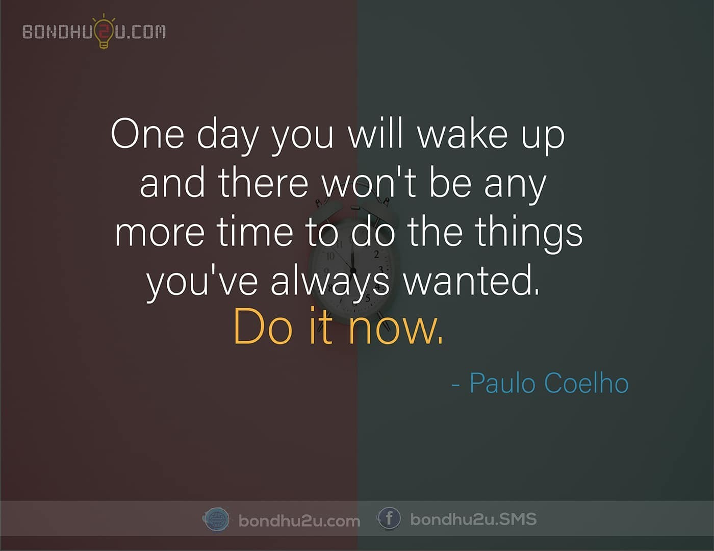 one day you will wakeup