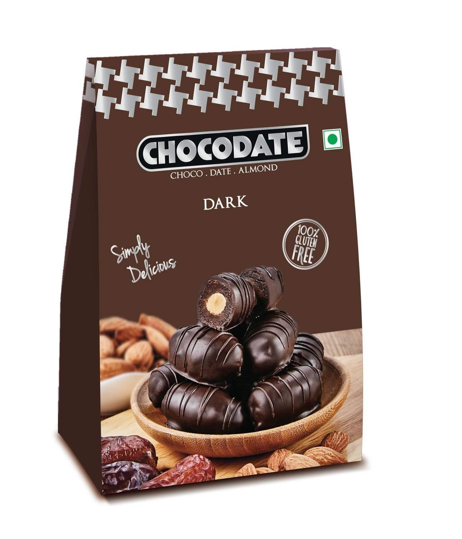 Chocodate - Dark, 100gm Box (Pack of 2), Multicolor