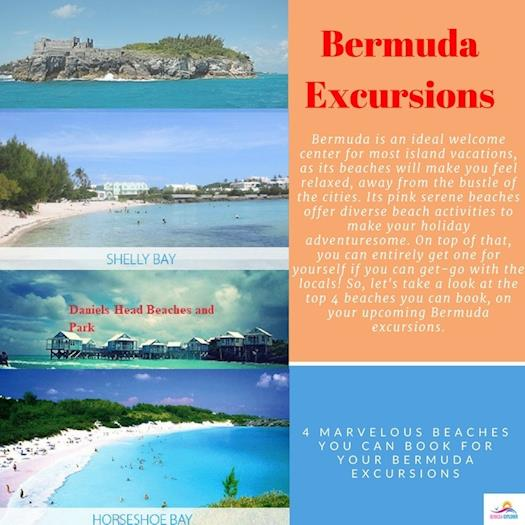 4 marvelous beaches you can book for your Bermuda excursions