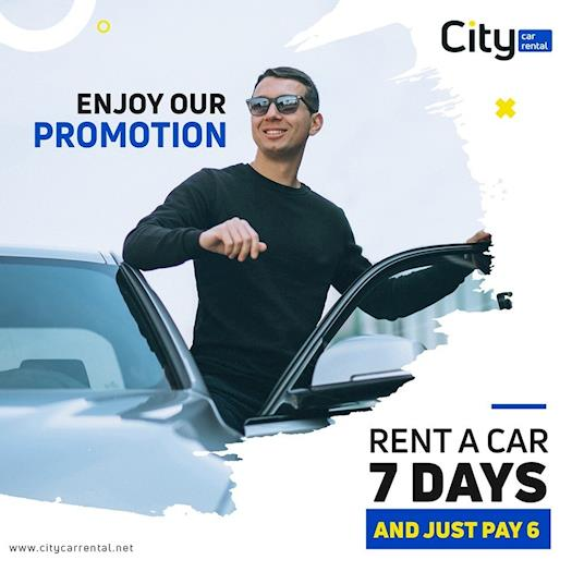 Rent 7 days pay only 6!