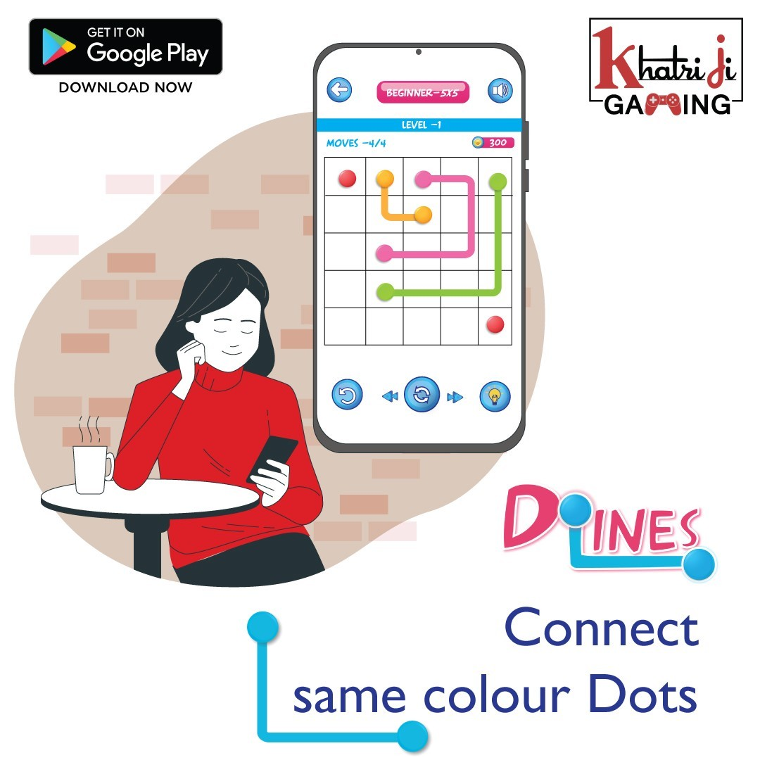 Do lines- Best Dot lines connecting game in india