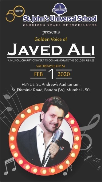 Javed Ali Live In Concert For St John Universal School